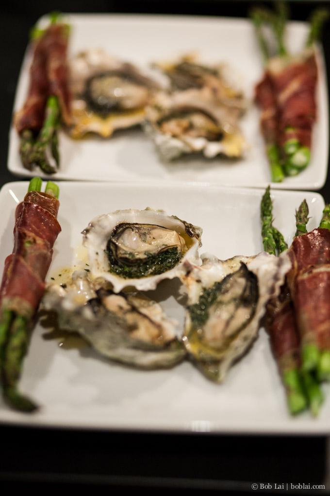 oysters & asparagus