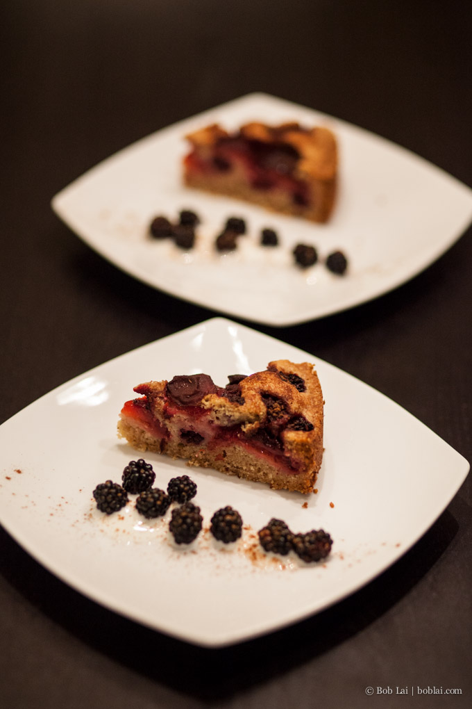 Blackberry Plum Cake
