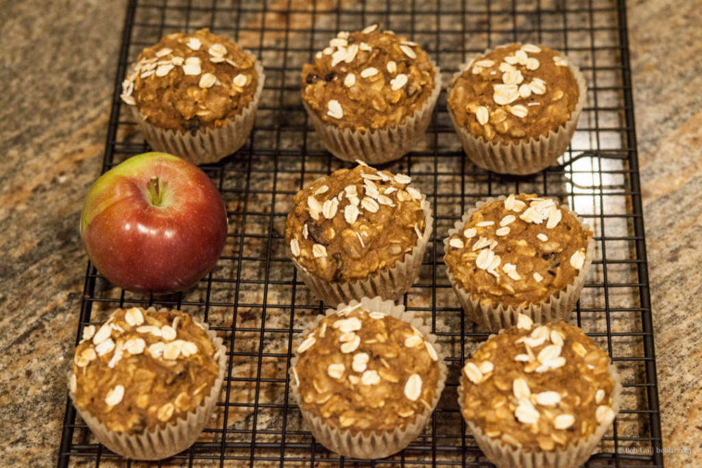 apple oat muffin